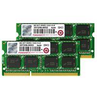 限定特価★【4GB×2】トランセンド 永久保証 ノート用 DDR3 1333Mhz SO-DIMM 204pin PC3-10600 2枚組 JM1333KSN-8GK【あす楽対応_関東】