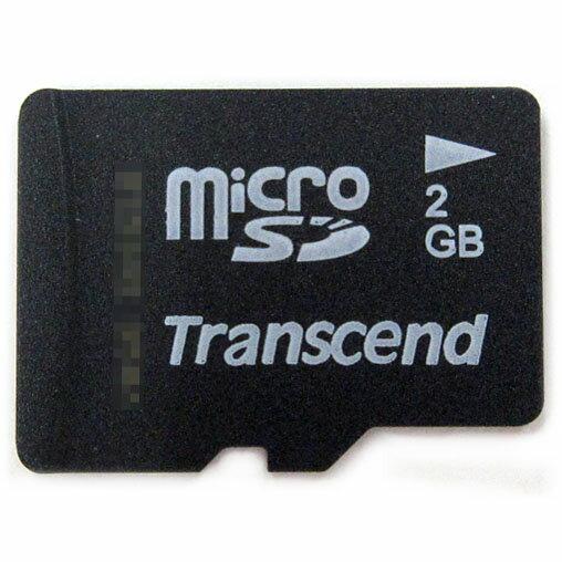 【2GB】 Transcend/トランセンド microSDカード 収納ミニケース付/アダプタなし/バルク TS2GUSDC-BLK ◆メ