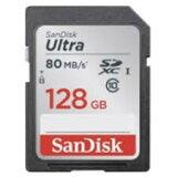 128GB SDXCカード SDカード SanDisk サンディスク Ultra CLASS10 UHS-I R:80MB/s 海外リテール SDSDUNC-128G-GN6IN ◆メ