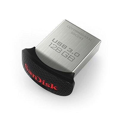 ◇【128GB】SanDiskサンディスクUSBメモリー親指サイズの小型設計UltraFitUSB3.0対応最大150MB/s海外リテールSDCZ43-128G-GAM46◆メ