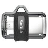 64GB USBメモリー SanDisk サンディスク Ultra Dual Drive m3.0 OTG Android USB3.0 R:150MB/s 海外リテール SDDD3-064G-G46 ◆メ