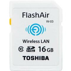 ◇ 【16GB】 TOSHIBA 東芝 無線LAN搭載SDHCカード FlashAir W-03 Class10 海外リテール SD-R016GR7AL03ACH ◆メ[風見鶏]