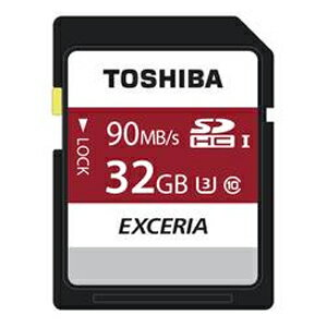 ◇【32GB】TOSHIBA東芝EXCERIASDHCカードClass10UHS-IU3対応R:90MB/s海外リテールTHN-N302R0320A4◆メ