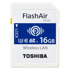 ◇【16GB】 TOSHIBA 東芝 無線LAN搭載SDHCカード 第4世代 FlashAir W-04 UHS-1 U3 R:90MB/s W:70MB/s 日本語パッケージ SD-UWA016G ◆メ