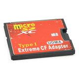 CFアダプター Extream 手持ちのmicroSDカードをCFカードTypeIに変換 EXCFAD-MICRO1 ◆メ