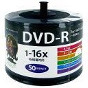 DVD-R メディア データ用 HI-DISC ハイディスク 16倍速 50枚詰替用エコパック ワイドプリンタブル HDDR4...