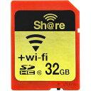 32GB SDHCカード SDカード ezShare Wi-Fi機能 CLASS10 Android/ iOS両 海外リテール Wi-FiSD-32G ◆メ
