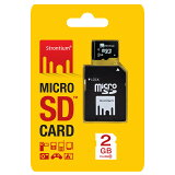 ◇【2GB】 Strontium Basic microSDカード Class6対応 SD変換アダプター付 海外リテール SR2GTFC6A ◆メ