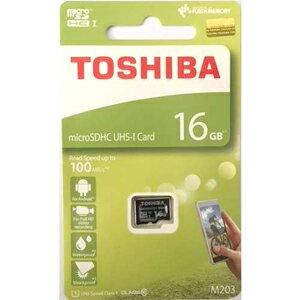 16GB microSDHCカード マイクロSD TOSHIBA 東芝 CLASS10 UHS-I R:100MB/s 海外リテール THN-M203K0160A4 ◆メ