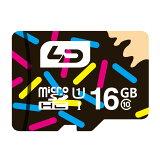 16GB microSDHCカード マイクロSD LD Class10 UHS-I R:70MB/s 日本語パッケージ LD-MSD16GC10U1 ◆メ