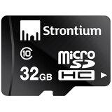 32GB microSDHCカード マイクロSD Strontium Basic CLASS10 SD変換アダプター付 海外リテール SR32GTFC10A ◆メ