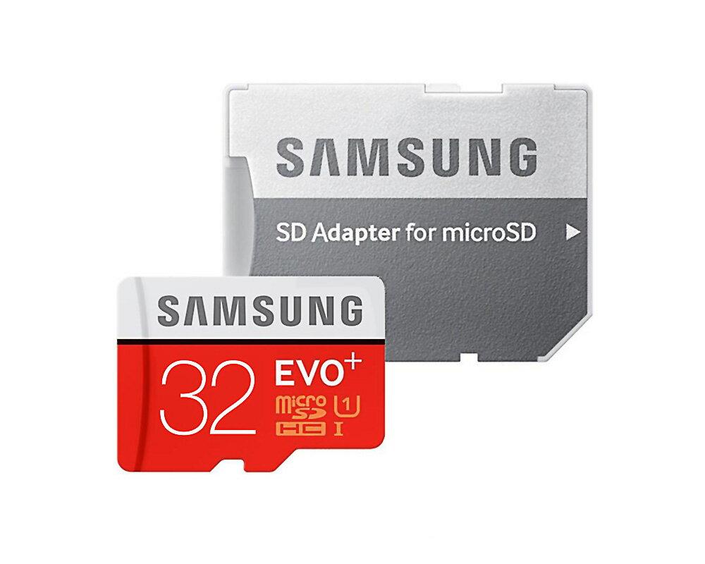 32GB microSDHCカード マイクロSD Samsung サムスン EVO Plus Class10 UHS-I R:95MB/s W:20MB/s SDアダプター付 海外リテール MB-MC32GA/EU ◆メ