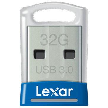 32GB USBメモリ USB3.0 Lexar レキサー JumpDrive S45 超小型 高速転送 R:150MB/s ブルー 海外リテール LJDS45-32GABNL ◆メ