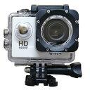 風見鶏で買える「アクションカメラ ウェアラブルカメラ フルHD1080p SAC 30m防水ケース付属 WEBカメラ機能 WiFi対応 ホワイト AC200WH/W ◆宅」の画像です。価格は3,900円になります。