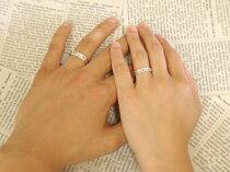 [送料無料]クロスペアリング結婚指輪マリッジリングダイヤモンド2本セットホワイトゴールドk18k18wg0.6ct結婚記念リング【_包装】【RCP】