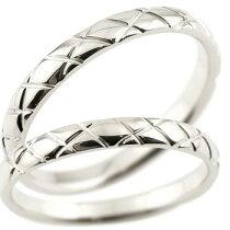 [送料無料]結婚指輪マリッジリングペアリングホワイトゴールドk18k18wg2.5ミリ幅ブライダルジュエリー2本セットアンティーク【_包装】0824カード分割