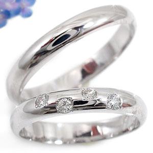 [送料無料]ペアリング 結婚指輪 マリッジリング プラチナ900ダイヤ ダイヤモン 2本セット【楽ギフ_包装】0824カード分割【コンビニ受取対応商品】:かざり屋