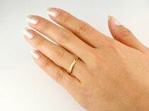 [送料無料]ダイヤモンドリング指輪ダイヤストレートイエローゴールドk18レディースメンズ【_包装】【RCP】
