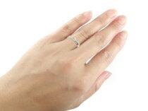 鑑定書付エンゲージリング婚約指輪ダイヤモンドリングダイヤ0.42ct一粒ダイヤモンド大粒ダイヤモンドVSクラス指輪ホワイトゴールドk18
