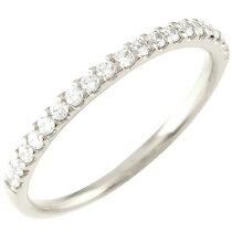 [送料無料]重ね付けリングピンキーリングハーフエタニティダイヤモンドリング指輪ダイヤダイヤモンドリングホワイトゴールドK1818金レディース【_包装】0824カード分割05P05Nov16