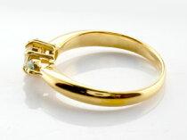 [送料無料]婚約指輪エンゲージリングダイヤモンドリングペリドット指輪大粒ダイヤイエローゴールドK1818金ダイヤモンドリング8月誕生石レディース【_包装】