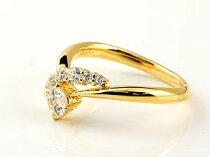 [送料無料]ダイヤモンドリング婚約指輪ダイヤモンドリングダイヤ0.43ct一粒ダイヤモンド大粒ダイヤモンド指輪エンゲージリングイエローゴールドK18レディース【_包装】0824カード分割