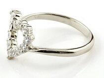 [送料無料]オープンハートダイヤモンドリングプラチナリング指輪ピンキーリングダイヤダイヤモンドpt900レディース【_包装】05P01Nov14