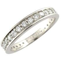 エンゲージリングダイヤダイヤモンドリングホワイトゴールドK18婚約指輪指輪エタニティリングダイヤダイヤモンドリングダイヤモンド0.36ct指輪