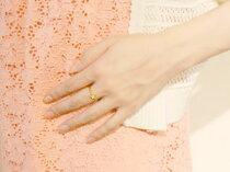 [送料無料]レディースダイヤモンドリングピンキーリングダイヤモンドリング指輪イエローゴールドk18星スター【_包装】