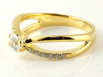 [送料無料]婚約指輪エンゲージリングダイヤモンドリングイエローゴールドk1818金リング大粒ダイヤモンドリング0.03ctレディース【_包装】05P12Oct14
