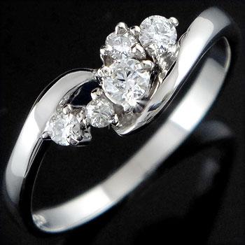 [送料無料]婚約指輪 エンゲージリング プラチナ ダイヤモンド リング 指輪【楽ギフ_包装】0824カード分割【コンビニ受取対応商品】:かざり屋