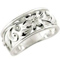 ハワイアンジュエリーハワイアンリング指輪シルバー925SV925幅広透かしハワジュ【_包装】【卒業祝い・入学祝い・就職祝い】