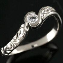 [送料無料]ハワイアンジュエリーハワイアンリングプラチナリングダイヤモンドリング指輪ハワジュレディース【_包装】