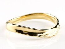 [送料無料]18金結婚指輪マリッジリングハワイアンペアリングイエローゴールドk1818kハワイアンジュエリーV字指輪結婚記念リング【_包装】0824カード分割【コンビニ受取対応商品】
