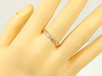ハワイアンジュエリーハワイアンリング指輪ピンクゴールドK18小指に記念にお守りとしてK18PG