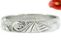 ハワイアンジュエリーダイヤモンドハワイアンリング指輪プラチナリング小指に記念にお守りとしてハワイ一粒ダイヤモンドミル打ち