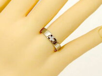 [送料無料]クロスペアリングダイヤダイヤモンド結婚指輪マリッジリングプラチナイエローゴールドk18ハンドメイド2本セット【_包装】
