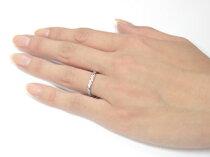 [送料無料]ペアリング;結婚指輪マリッジリングダイヤダイヤモンドイエローゴールドk18プラチナコンビネーションコンビデザインハンドメイドエンゲージソフトライン2本セット【_包装】