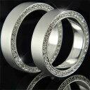 結婚指輪 ペアリング 2本セット ダイヤ ダイヤモンド リング マリッジリング プラチナリング フルエタニ...