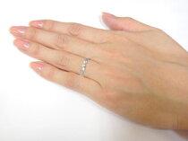 [送料無料]ペアリング結婚指輪マリッジリングホワイトゴールドk18波ハンドメイド2本セットミル打ち【_包装】