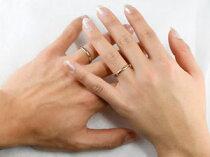 [送料無料]ペアリング指輪ホワイトゴールドk18ピンクゴールドk18シンプル結婚指輪マリッジリング2本セット甲丸【_包装】【RCP】