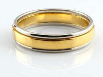 [送料無料]ペアリング結婚指輪プラチナイエローゴールドk18コンビマリッジリング結婚式地金リング宝石なしストレート2本セットブライダルリング記念【_包装】