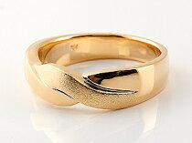 [送料無料]ペアリングピンクゴールドk1818金ダイヤモンド結婚指輪マリッジリングウェデングリング結婚記念幅広つや消し結婚式ハンドメイド2本セット【_包装】【RCP】