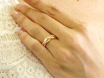 [送料無料]ペアリングホワイトゴールドk18ピンクゴールドk1818金ダイヤモンド結婚指輪マリッジリングウェデングリング結婚記念幅広つや消し結婚式ハンドメイド2本セット【_包装】【RCP】