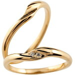 [送料無料]ペアリング結婚指輪マリッジリングピンクゴールドk18ダイヤモンドシンプルつや消しホーニングハンドメイド2本セット【楽ギフ_包装】【RCP】