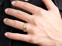 [送料無料]ペアリングマリッジリング結婚指輪結婚記念リングウェディングリングウェディングバンドホワイトゴールドk18イエローゴールドk1818金地金リング幅広2本セットクリスマスプレゼント【_包装】