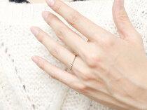[送料無料]ペアリングマリッジリングピンクゴールドk18ホワイトゴールドk18リング結婚指輪結婚記念リングウェディングリングブライダルリング細め極細華奢2本セット18金地金リング【_包装】05P08Feb15