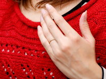 [送料無料]ハートリングシンプルピンクゴールドk10ピンキーリング指輪華奢リング重ね付けリング指輪細め細身10k10金アンティークレディース【_包装】
