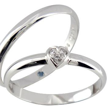 [送料無料]ペアリング ハート ダイヤ ダイヤモンド プラチナ900結婚指輪 マリッジリング ハンドメイド 2本セット 甲丸【楽ギフ_包装】0824カード分割【コンビニ受取対応商品】:かざり屋