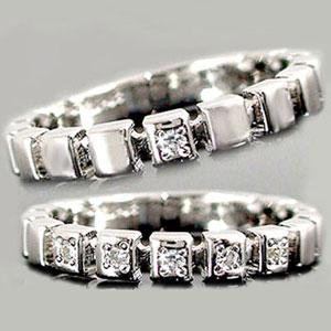 [送料無料]ペアリング 結婚指輪 マリッジリング ダイヤ ダイヤモンド リングホワイトゴールドk18 k18wgリング2本セット18k 18金【楽ギフ_包装】0824カード分割【コンビニ受取対応商品】:かざり屋